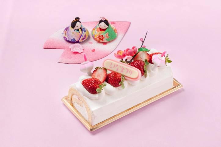 ひなまつりロールケーキ(イメージ)